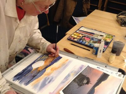 Sam Douglas Painting Sessions in Tarset 3