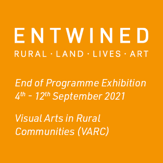 The logo of the ENTWINED programme with the dates of exhibition written on it (September 4th to 12th 2021)